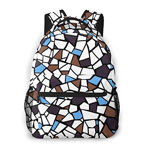 Lässiger Tagesrucksack Bunte kaputte Fliesen Männer und Frauen Lässiger Stil Leinwand Rucksack Schultasche,