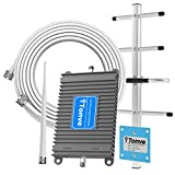Cell Phone Signal Booster for AT&T T-Mobile 700MHz 4G LTE Band 12/17 Mobile Signal Repeater Amplifier Antenna Kits for Home and Office Improve 4G LTE Data Rates, Supports Volte