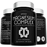Magnesium Citrate Supplement with Zinc, Vitamin D & B6 - High Strength 180