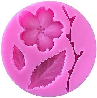 1 piece Peach Blossom Shape Fondant Silicone Molds Cake Decorating Tools Chocolate Mold Moldes Para Reposteria
