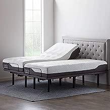 LUCID L600 Adjustable Bed Basewith LUCID 12 Inch Memory Foam Hybrid-Mattress-Split King