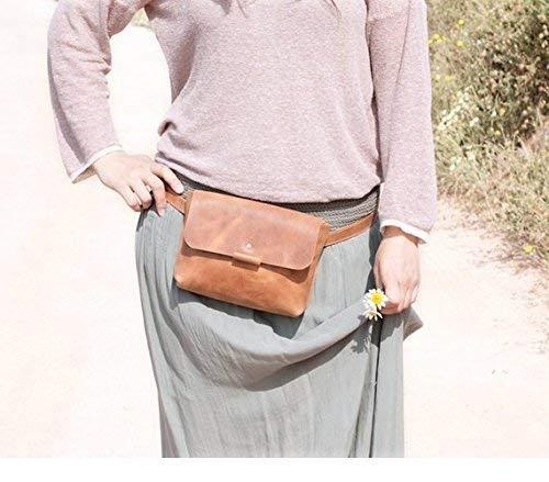 Brauner Lederbeutel, minimalistische Hüfttasche, Frauengürteltasche, Gürteltaschenleder, Gürteltaschenrevers, Gürteltasche, Bauchtasche Barcelona