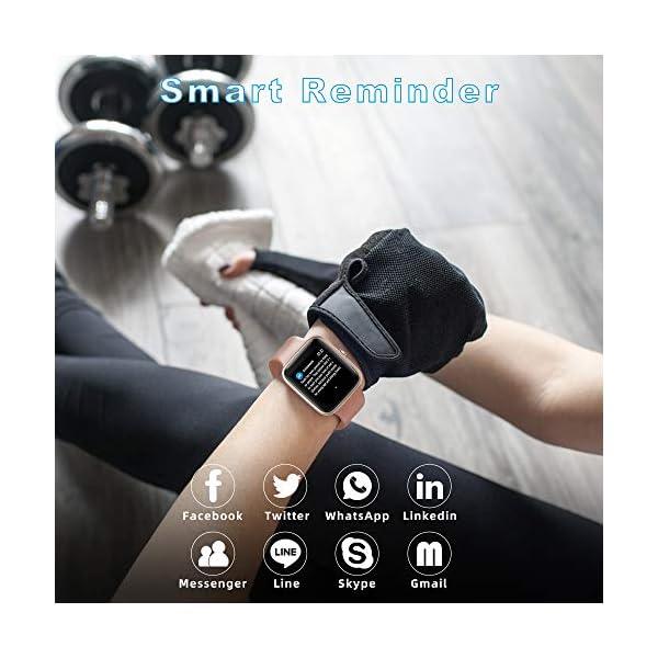 YONMIG Reloj Inteligente Mujer y Hombre, Smartwatch Impermeable IP68 Pulsera Actividad Deportivo con Monitor de Sueño… 8