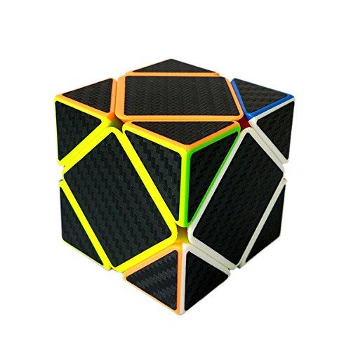 EasyGame Skewb Cube, Fibra de Carbono Cubo mágico Rompecabezas