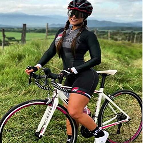 Manga corta de ciclismo para mujer con conjunto de triatlón de secado rápido acolchado (Color : 5, Size : X-Large)