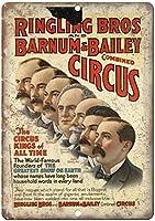 Ringling Bros Barnum Bailey Circus 注意看板メタル安全標識壁パネル注意マー表示パネル金属板のブリキ看板情報サイン