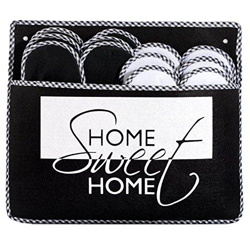 ONVAYA ABS Gästepantoffel Home Sweet Home | 6er Set | Antirutsch | Hausschuhe | Gästeschuhe