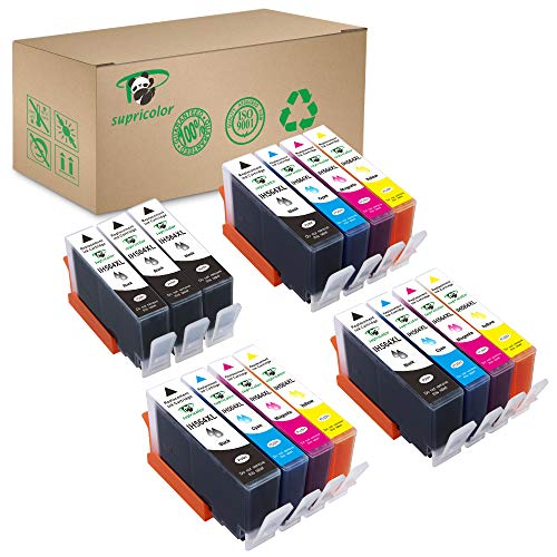 Price comparison product image Supricolor Replacement 564xl Ink Cartridges,  Compatible Ink for HP 564XL 564 XL Work with Photosmart 7520 5520 6520 6510 7510 7515 C310a DeskJet 3520 3522 (6Black 3 Cyan 3 Magenta 3 Yellow) 15 Pack
