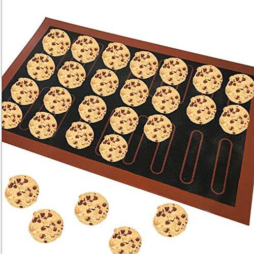 Tapis de cuisson en silicone anti-adhésif, 18/44 Eclair, résistant à la chaleur, pour gâteaux, pain, macarons, accessoires de cuisine