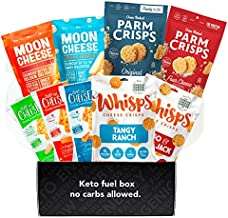 Moon Cheese, Just The Cheese, Parm Crisps, Cheese Whisps – Keto Cheese Snacks Variety Gift Box