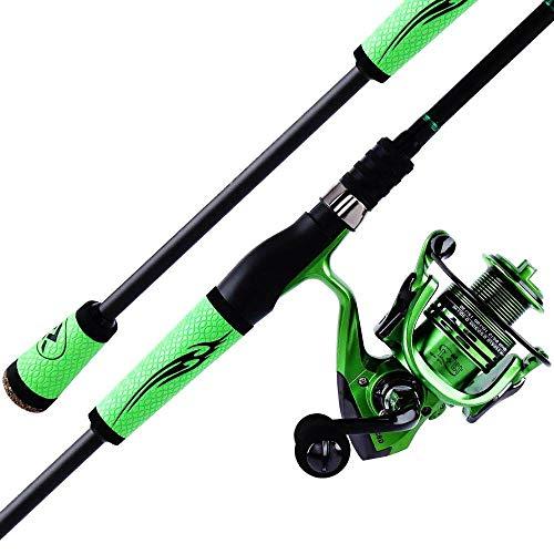 FISHYY Caña De Pescar 2.1M 2.4M Spinning Caña De Pescar Carrete Combo Portable Lure Rod Pole con 13 + 1Bb Spinning Fishing Carrete De Rueda
