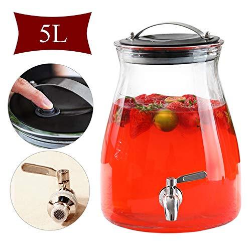 Creatieve dispenser, 5 l, met dranken, zonder uitloop, spigot, waterdispenser, voor koud water/sangria/limonade 5l-stainless Steel Tap-no Base