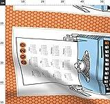 Schreibmaschine, Retro, Blau, Orange, Schreiben,