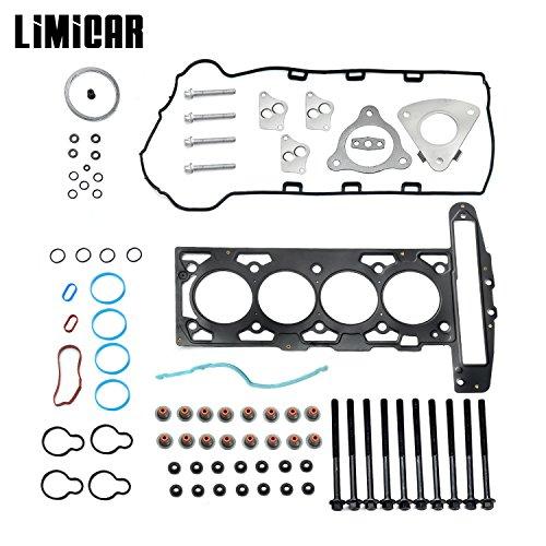 LIMICAR MLS Cylinder Head Gasket Set with Head Bolts HS26223PT-1 For Chevrolet Cavalier Classic Cobalt HHR Malibu Oldsmobile Alero Pontiac Grand Am Pursuit Sunfire Saturn Ion L300 Vue 2.2L L4
