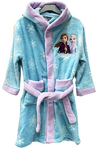 Disney Frozen Eiskönigin Bademantel Kimono Gürtel Kapuze Morgenmantel blau (98/104)