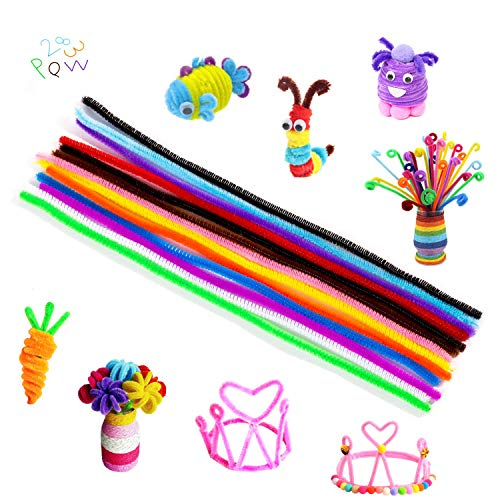 Kkbestpack 20 Colors 300 Pcs Pipe Cleaners Craft Chenille Stems for Kids DIY Art Creative Craft Decorations (6 mm x 12 Inch) Assorted Colors