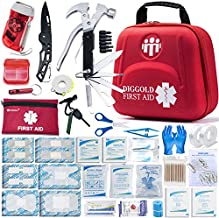 First Aid Kit for Car Travel Camping Home Office Sports Survival Complete Emergency Bag Fully stocked with high Quality(RED2.0)