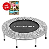 FLEXI-SPORTS Trampolin IKON Mini 96, ø 100 cm, Fitness Indoor Trampolin, faltbar, inkl. DVD