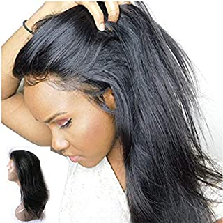 Enoya Hair 180% Density Silk Top 360 Lace Frontal Human Hair Wigs with Baby Hair for Black Women Straight Brazilian Virgin Hair Lace Wig (16