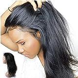 Enoya Hair 180% Density Silk Top 360 Lace Frontal Human Hair Wigs with Baby Hair for Black Women Straight Brazilian Virgin Hair Lace Wig (18' silk top)