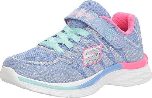 Skechers Skechers Mädchen Sneakers Whimsy Girl 81131L/ CCTQ, Charcoal/Turquoise, Charcoal/Turquoise, 35 EU
