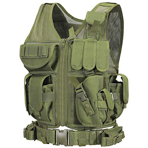 GZ XINXING S - 4XL Law Enforcement Tactical Airsoft Paintball Vest (Green)