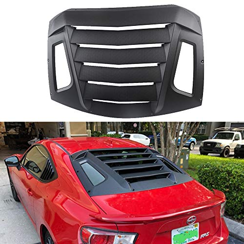 Dixuan Auto Parts Rear Window Louvers Matte Black ABS Windshield Sun Shade Cover for 2012-2020 Subaru BRZ, Scion FR-S, Toyota GT86
