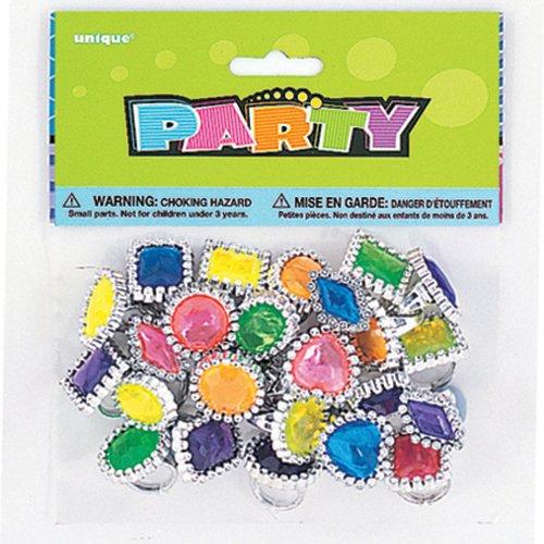 Price comparison product image Plastic Gem Ring Party Favors