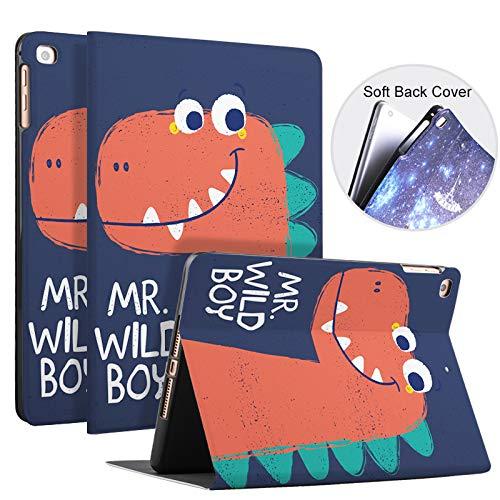 Funda para iPad 10.2 2019 con patrón de Dibujos Animados Lindo, Cubierta Inteligente de Silicona Suave iPad Smart Sleep/Wake automático magnético para Apple iPad 7th Generation,Wildboy