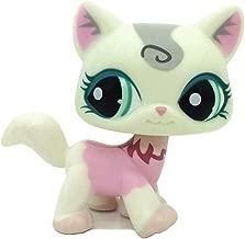 ZAD Littlest Pet Shop LPS Felina Murchent White & Pink Kitty Cat Green Eyes #1699