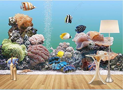 Papel De Pared 3D Tnt Murales Mundo Submarino Coral Peces Tropicales Paisaje Papel Pintado Pared Foto Mural Pared Decorativos 320X230Cm