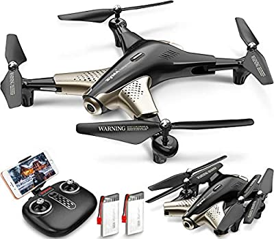 Syma X300 WiFi RC FPV Drone with HD 1080P Camera for Adults, Foldable RC Quadcopter Drone with 2.4GHz Real-Time Transmission Altitude Hold 3D Flips Indoor Outdoor APP Controlled with 2 batteries from Syma