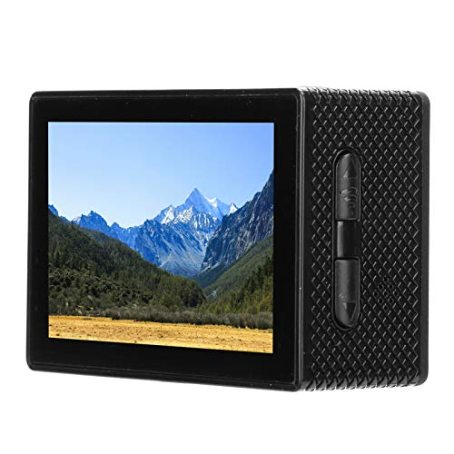 Exliy 4K HD Mini cámara para Exteriores Cámara de Bicicleta Inteligente Anti-vibración Cámara de acción con rotación de 180 ° para Windowsxp/VistaorAbove / Win7 / Mac os