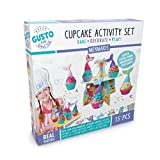 Childrens Mermaid Baking Set Includes Cupcake Holders,Piping Bag with Nozzles,display stand and lots more.Baking Set for Girls, Great Baking Sets for Children, Idea,Gifts for Girls Age 9-10