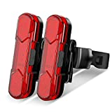 Victgoal Rear Bike Tail Light 2 Pack, USB Rechargeable Bright LED Bicycle Taillight with 4 Lighting Modes Waterproof Bike Light Flashing Light (Red)