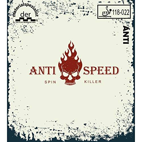 DER MATERIALSPEZIALIST Belag Anti-Speed Optionen 2,0 mm, rot