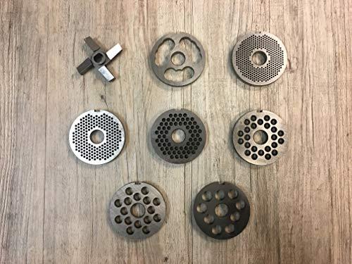 R70 Fleischwolfmesser, Vorschneider, Lochscheiben versch. Größen (Lochscheibe R70 2 mm)