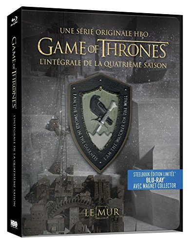 Game of Thrones (Le Trône de Fer) - Saison 4 - Edition limitée Steelbook - Blu-ray - HBO [SteelBook édition limitée - Blu-ray + Magnet Collector]