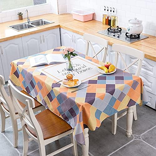 XXDD Mantel Impermeable de polígono con geometría de Estilo nórdico Fresco decoración de cocinas para el hogar Mantel A2 140x160cm