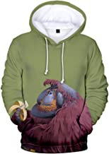 FengZhuo New Models Orangutan 3D Color Printing Trend Hip-hop Street Style Men and Women Hooded Sweater
