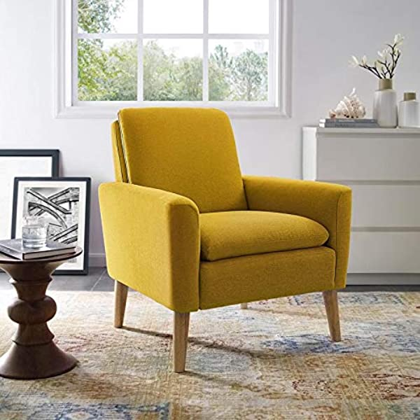 LILOLA Roseann Linen Armchair Yellow