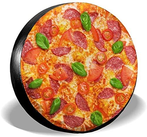 Delicious Italian Pizza Funda para llanta de repuesto,poliéster,universal,de 15 pulgadas,para rueda de repuesto,para remolque,RV,SUV,rueda de camión,camión,camper,accesorios de remolque de viaje