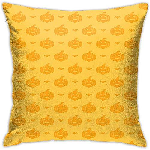Gjiesh Patrón con Calabazas para Halloween Funda de cojín Throw Pillow Case Diseño de Doble Cara 45x45cm Family Interior Sofa Car