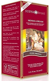 Surya Henna Dark Brown Cream 2.31 Oz. (4 Pack)