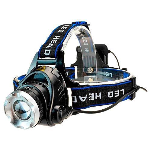LED-Scheinwerfer, wasserdicht, 4000 Lumen, Xml, T6 Stirnlampe, 4 AA-Batterien