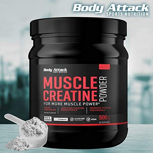 Body Attack Muscle Creatine, 1er Pack (1 x 500 g) - 7