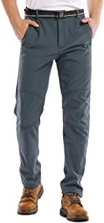 Jessie Kidden Mens Waterproof Hiking Pants, Outdoor Snow Ski Fishing Fleece Lined Insulated Soft Shell Winter Pants