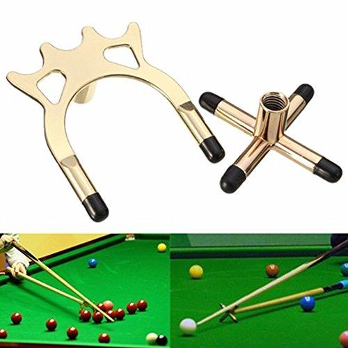 Snooker Rests Spider und Metallkreuz, hochwertiges Zubehör-Set für Billard/Snooker / Billard Free Size messing