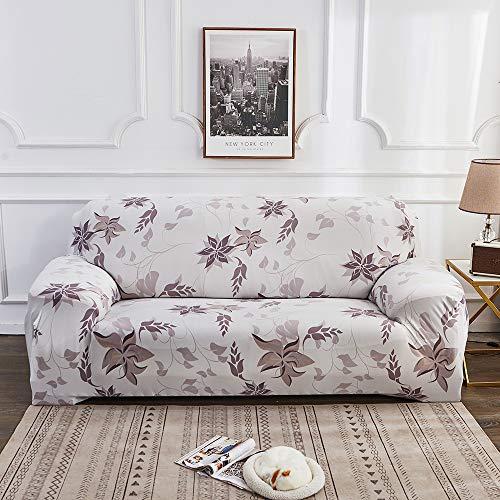 Souarts Sofabezug elastische Stretch Sofaüberwurf Sofa Couch Sessel Husse Bezug Decke Sofabezüge 1/2/3/4 Sitzer (2 Sitzer, Weiß)