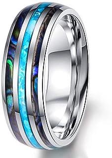 FLIUAOL 4 مم 6 مم 8 مم خواتم التيتانيوم خواتم الزفاف للرجال والنساء